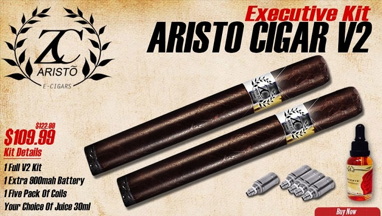 Executive Kit  Aristo Cigar V2 - Rechargable E-Cigar - FREE SHIPPING! (Domestic)